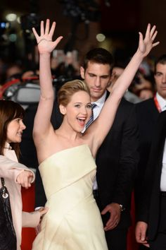 Jennifer Lawrence at the Rome premiere for The Hunger Games: Catching Fire.