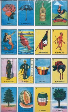 loteria bingo cards to print | Large Loteria Mexican Bingo Card Game by Redux4u on Etsy