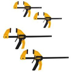 DEWALT Medium and Large Trigger Clamp (4-Pack) DWHT83196 at The Home Depot - Mobile