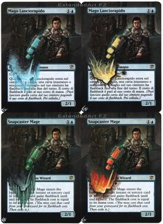 Snapcaster Mage, by FZ Magic: The Gathering cards Altered Art