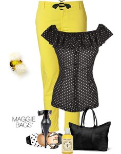"""What's the Buzz?"" by maggiebags ❤ liked on Polyvore"