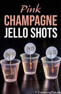 Love this pink champagne jello shots recipe. It's made in cups so it's easy to served and make. Love this pink champagne jello shots recipe. It's made in cups so it's easy to served and make. Cohesive DIY Home Decor Ideas Lemonade Jello Shots, Margarita Jello Shots, Best Jello Shots, Champagne Jello Shots, Cocktail Shots, Pink Champagne, Cocktails, Summer Jello Shots, Wine Jello Shots
