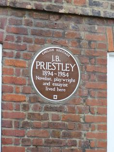 J.B. Priestley - Highgate Road, London, N6 Essayist, Playwright, Inspector Calls, English Heritage, English Countryside, Pilgrimage, Writers, Signage, How To Find Out