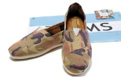 Red Camouflage Toms Womens Classics