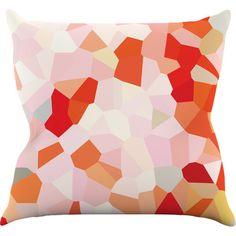 "KESS InHouse Oooh La La by Iris Lehnhardt Pixel Throw Pillow Size: 16"" H x 16"" W x 3"" D"