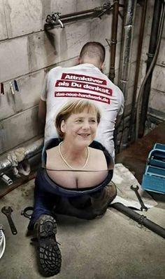 """Photo : Génie cette #pub allemande pour la journée de la plomberie. """"L'artisanat est plus attrayant que vous le pensez."""""""