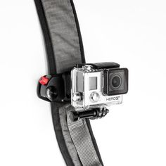 The Capture P.O.V. strap mount by Peak Design locks in your GoPro camera on backpack straps, life vests, ski boots, and any piece of gear with a strap on it.