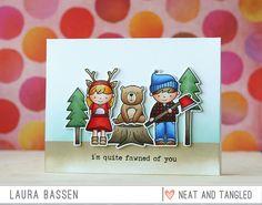 Neat & Tangled Lumberjack card by Laura Bassen.