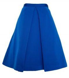 Tibi Blue Full Skirt - Shop more budget-friendly finds: http://shop.harpersbazaar.com/in-the-magazine/great-finds/