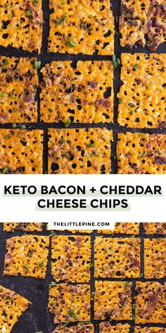*NEW* Crispy, crunchy, cheesy perfection, these bacon cheddar cheese chips are the most flavor packed way to curb your salty cravings. #ketocheesechips #lowcarbcheesechips #lowcarbsnack #ketosnack #lowcarbsnacks #ketosnacks
