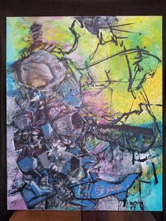 Pawel Kin - Collision (acrylic on canvas)