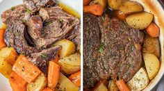 Classic Pot Roast is comfort food at it's best, made with potatoes and carrots, slow roasted in the oven is the perfect weekend dinner ready in 3 hours. Beef Pot Roast, Roast Beef Recipes, Chicken Recipes, Cheetos Mac And Cheese Recipe, Cooking A Roast, Slow Cooking, Southern Recipes, Southern Food, Instant Pot Dinner Recipes