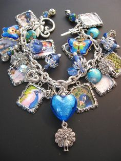 Peacock Bracelet Jewelry  Royal Peacock Charm by jewelryrow, $48.00