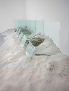 Untitled 1971 x x Glass, sand, argon Installation at Zwirner Gallery, New York City Glass Installation, Conceptual Art, Art World, Sculpture Art, Glass Art, Sand Glass, Contemporary Art, Illustration, Rock