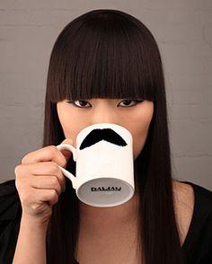 moustache cup