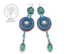 Sutasz-Anka: Hindi Blue - earrings http://www.soutage.com/2012/10/hindi-blue-kolczyki.html