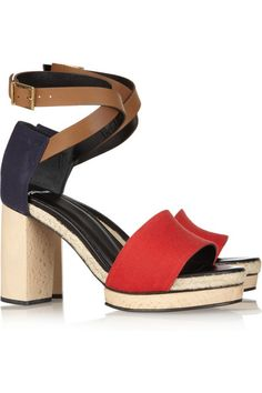 Pierre Hardy Leather & Canvas Sandal