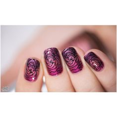 "Find and save images from the ""Nails Art"" collection by Dreams come True (TheStarsFriend) on We Heart It, your everyday app to get lost in what you love. Crazy Nails, Funky Nails, Finger Nail Art, Corte Y Color, Rose Nails, Nail Polish Art, Stamping Nail Art, Great Nails, Creative Nails"