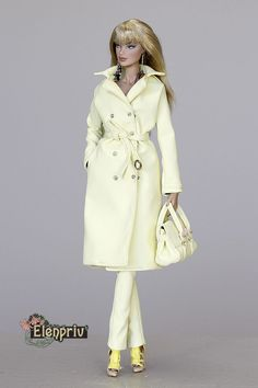 elenpriv yellow leather trench coat Fashion royalty FR2 doll Agnes Kyori Adele  | eBay