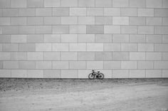Wall with a bike