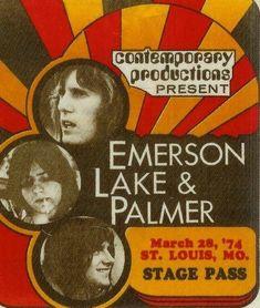 Rock Posters, Band Posters, Movie Posters, Greg Lake, Emerson Lake & Palmer, Vintage Concert Posters, Rock Festivals, Vintage Rock, Poster
