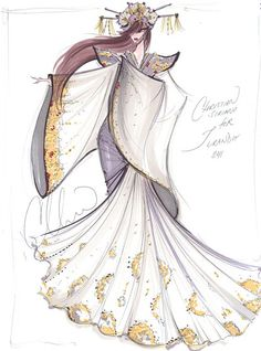 Designers Sketch Their Fantasy Opera Costumes: Turandot from Turandot by Christian Siriano.