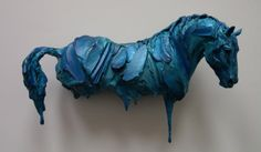 Art by Erwin Peeters Horse sculpture Horse Sculpture, Sculpture Clay, Animal Sculptures, Horse Artwork, Blue Horse, Painted Pony, Horse Drawings, Pottery Sculpture, Small Art