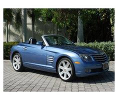 Blue Chrysler Crossfire - 2 seater convertible.