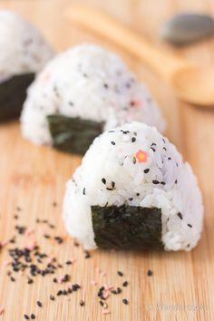 Simple Onigiri Recipe - Finished and ready to eat. Taught to us by our lovely host family in Kagoshima, Japan.
