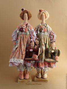 Купить Пульхерия, швейная бохиня - бежевый, бохо, кукла в стиле Бохо, стиль бохо