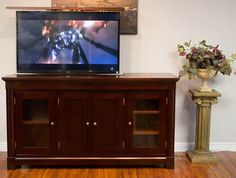 The Rouge Valley TV Lift Cabinet by Morphbotics Ideal for anyone who loves to entertain in style Hand Crafted to Perfection with the Highest Quality Wood. Variety of stain options to choose from Youtube Video Player, The Rouge, Cabinet Making, Cabinet Furniture, Improve Yourself, Media Stands, Entertaining, Tv, Wood