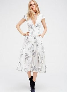 #xmas #Christmas #Oasap - #oasap Deep V Neck Short Sleeve Floral Printed Maxi Dress - AdoreWe.com