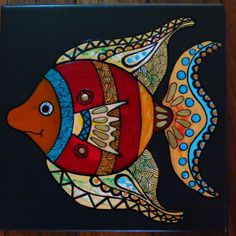 Mural Painting, Fabric Painting, Paintings, Pottery Painting, Ceramic Painting, Wal Art, Painted Rocks, Painted Fish, Hand Painted