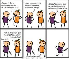 Disfraz del apuñalador de ojos de camiseta púrpura (HUMOR) (Caricaturas)