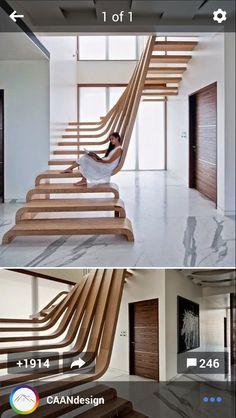 Fluid organic stairs