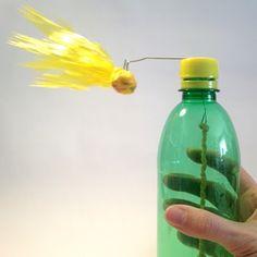 Kometenkarussell aus PET-Flasche und Plastikfolie