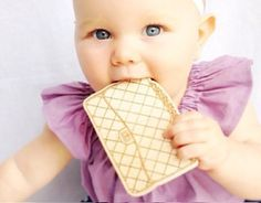 chanel handbag teething toy from lexypexy | baby shower gift guide
