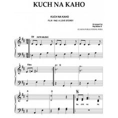 KUCH NA KAHO PIANO SHEET MUSIC  For details visit bollywood sheet music books…