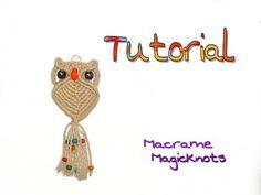 Macrame Owl ♥ Makramee Eule ♥ Búho ♥ Макраме сова ♥ DIY ♥ - YouTube