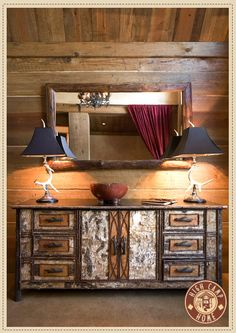 Campy and rustic furnishings....love this chest!