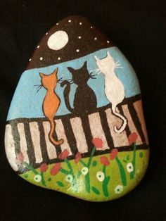 #stone#painting#cats