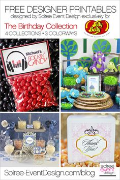 FREE Birthday Party Printables Designed Exclusively for Jelly Belly