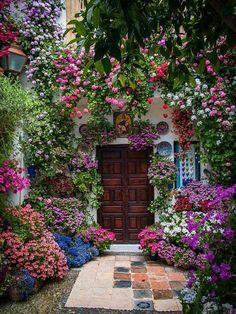 Rain and snow are going to play a huge part in your yard landscaping decisions. For example you will have to plan for your yard landscaping with care. These yard lan Beautiful Gardens, Beautiful Flowers, Beautiful Places, Colorful Flowers, Summer Flowers, Front Yard Landscaping, Landscaping Ideas, Backyard Ideas, Mulch Landscaping