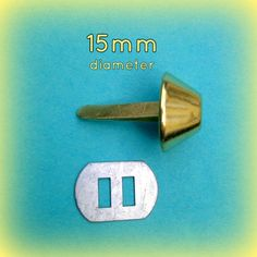 100 15mm / 0.6 Diameter Rust Proof Bucket by tantalizingstitches (Craft Supplies & Tools, Sewing & Needlecraft Supplies, handbag, purse, destash, diy, cccoe team, findings, foot, feet, purse brads, bucket shape, GILT gold yellow)