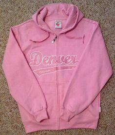 DENVER COLORADO HOODIE SWEATSHIRT Embroidered Hooded Zippered PINK Fleece  Jacket Denver Colorado, Sport Wear, 9ec9f8b1e7
