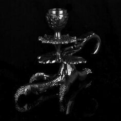 Black Crystallized Claw Candle Holder.