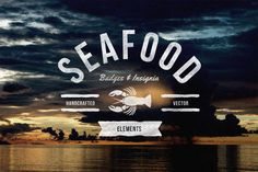 Check out Seafood Badges & Insignia by TSV Creative on Creative Market