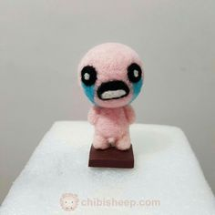 Personagem Isaac, do jogo Binding of Isaac  #needlefelting