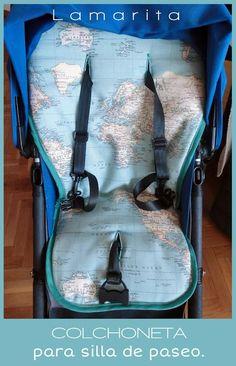 Lamarita DIY: Colchoneta para silla de paseo: PATRÓN