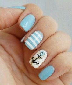 Image via We Heart It #anchors #nails #pretty #summer #cutenails #summernails